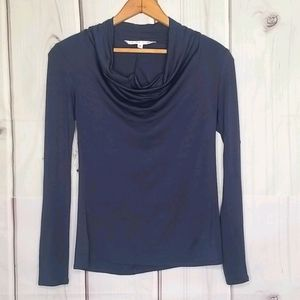 Trina Turk Cowl Neck Long Sleeve Tee Size S